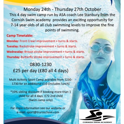 Swim Camp poster Oct 16 jpeg