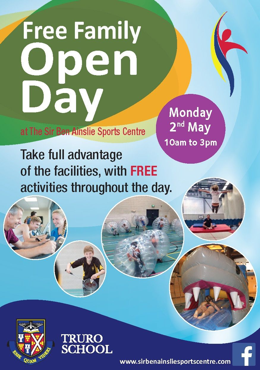 Free Sports Centre Open Day Sir Ben Ainslie Sports