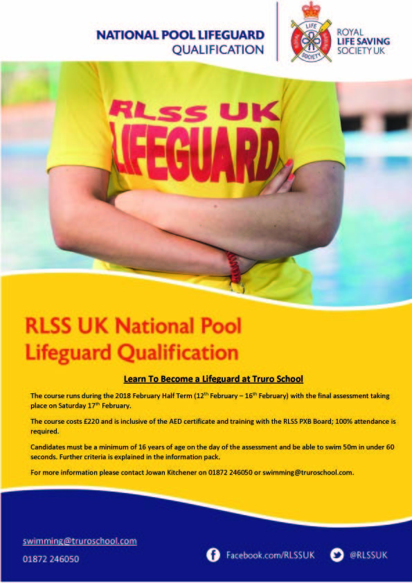 Lifeguard course feb18 A4 Poster copy